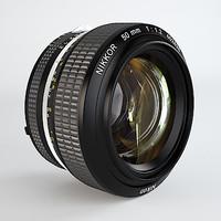 Nikkor 50mm f/1.2 prime lens