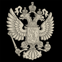 3d model russia national emblem