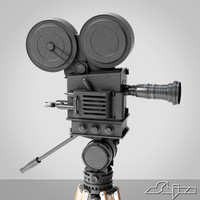 old camera old-fashioned 3d model