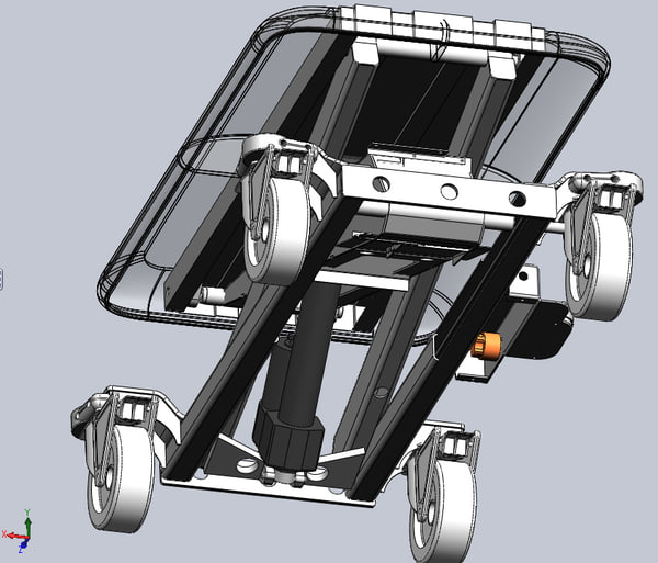 3d model veterinary table solidworks - Veterinary Adjustable Table Cart SolidWorks... by 3D MECHANICAL ENCYCLOPEDIA