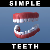 free simple teeth emdl 3d model