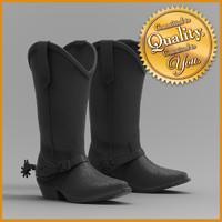 3d cowboy boot model