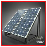 SOLAR panel small 01 (HIGH detail)