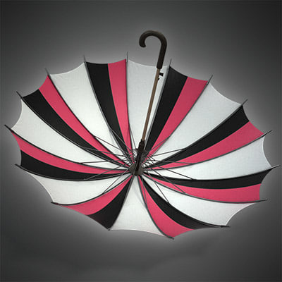 3ds max umbrella rain - UMBRELLA rain 09 (high detail)... by radoxist