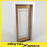 residential entry door 21 3d 3ds