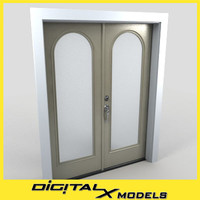 3d residential entry door model