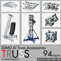 3d aluminum accessories truss model