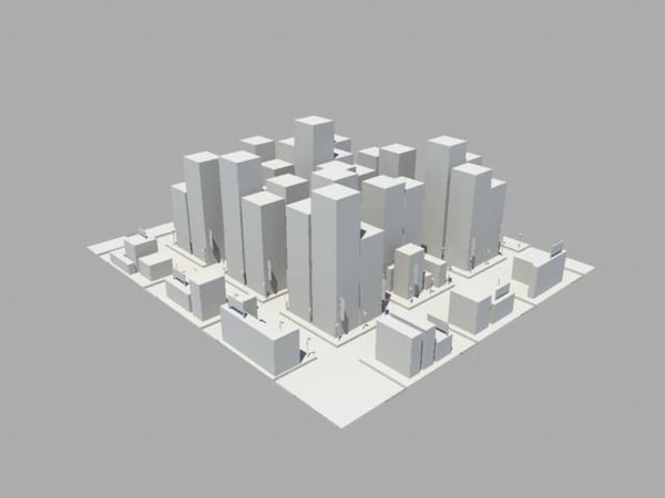 basic city 3d model - Basic City... by Ewebbe6
