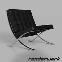 3dsmax barcelona chair