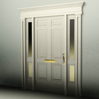 3d door house office model