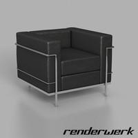 3d model corbusier lc2