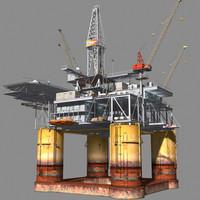 oil rig format 3d model
