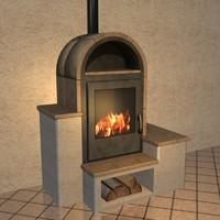 3d model stove