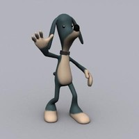 cartoon dog character 3d model