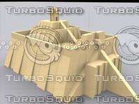 ziggurat 3d model