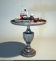 drexel - anna table 3d model