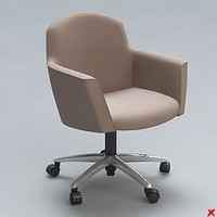 chair office 3d 3ds