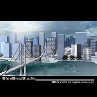 3d city plants model