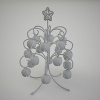 3d model stylized christmass tree