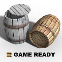 wooden barrel - 3d max