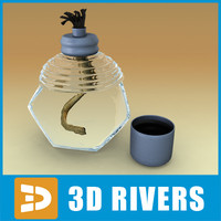 glass alcohol lamp 3d model