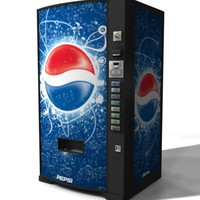 pepsi vending machine 3d obj