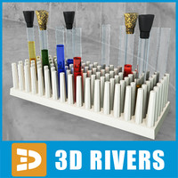laboratory plastic rack 3d model