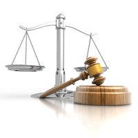 3d model gavel scales justice