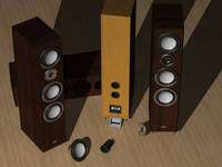 bass speaker 3d model