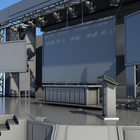 3d model stage corporate conferences