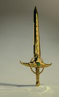 3d gold sword 2009 model