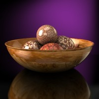 Wood bowl with decorative balls - Accurate and scale