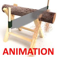 saw wood 3d max