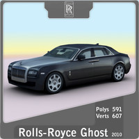 2010 rolls-royce ghost 3d model