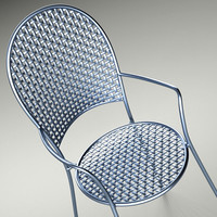 3d obj metal chair