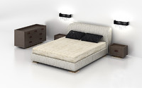 3d model of bedroom set capital -