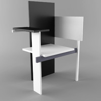 3d model berlin chair