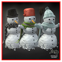SNOWMAN collection (HIGH detail and realism)