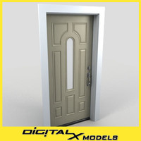 residential entry door 09 3d model