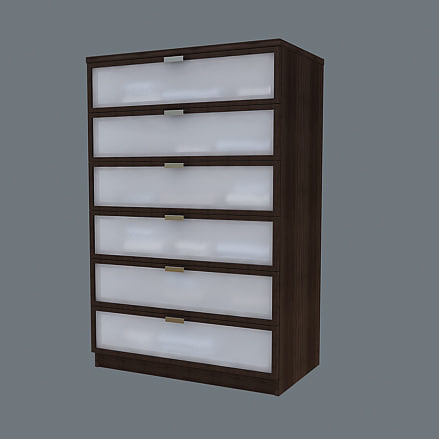 Ikea Hopen Chest Drawers 3ds
