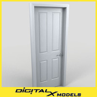 3d model residential interior door 02