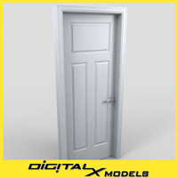 residential interior door 12 3d model