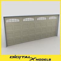 3d model residential garage door 03