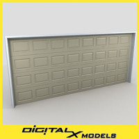 3d residential garage door 08 model