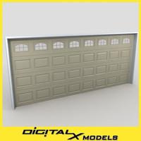3dsmax residential garage door 13