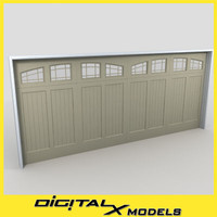 3ds max residential garage door 19