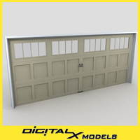 3d residential garage door 22 model