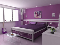3d model bedroom v light