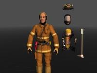 c4d firefighter