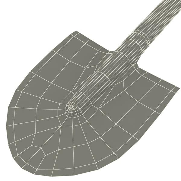 Garden shovel 3d x for Garden design 3d tools